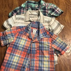 Lot of 3 toddler button down shirts